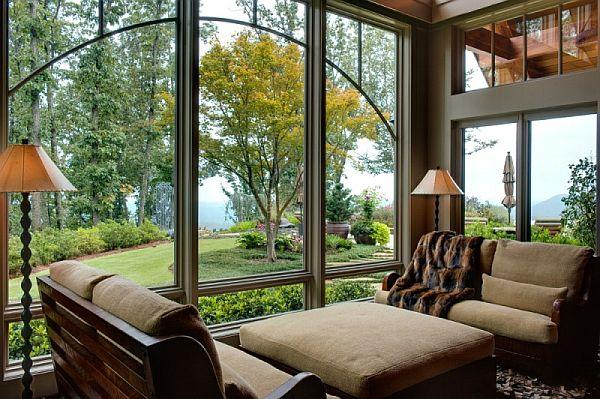 Всички помещения са не само просторни, но и предлагат великолепни гледки към градината
