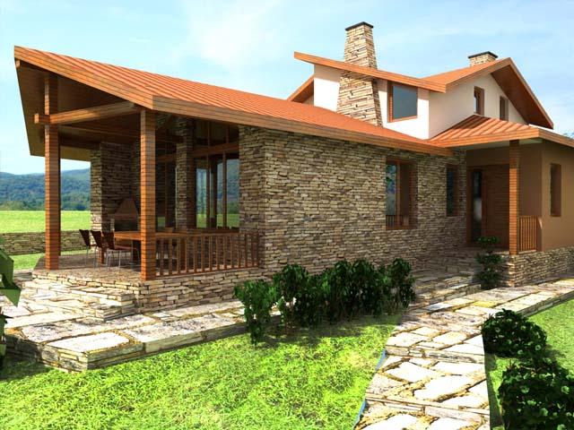 """Проект на еднофамилна къща в с.Белащица, местност """"Живака"""""""