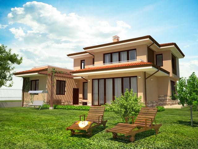 проект е на еднофамилна жилищна сграда, разположена в с. Горна Диканя