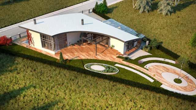 Проект на еднофамилна къща във вилната зона на гр. Пловдив