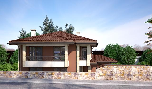 Проект на еднофамилна двуетажна къща със сутерен - ИРИС