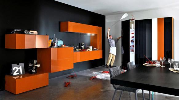 Оранжева кухня